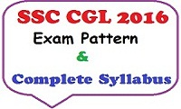 SSC CGL Exam Syllabus
